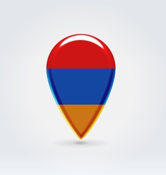 Armenian icon point for map vector image vector image