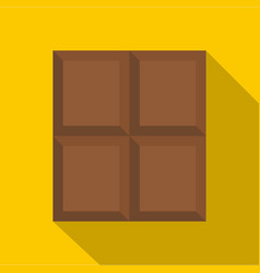 dark milk chocolate bar icon flat style vector image