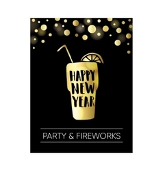 Happy new year greeting card invitation Poster vector image vector image