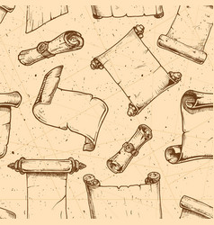pattern with old scroll vector image vector image