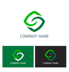 square letter s logo vector image