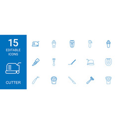 15 cutter icons vector