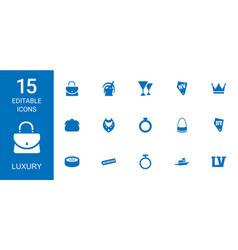 15 luxury icons vector