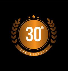 30th anniversary template design vector