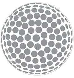 A golfball outline isolated in white background vector