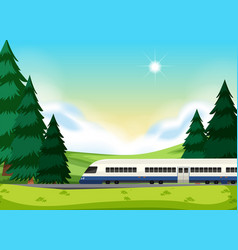a rail to the nature vector image
