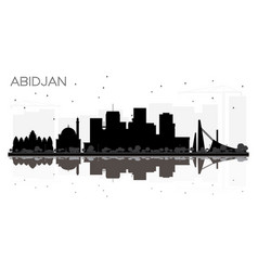 abidjan ivory coast city skyline silhouette with vector image