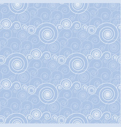 abstract decorative dot cloud seamless pattern vector image