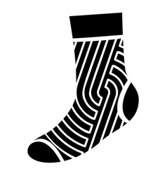 abstract print sock icon simple style vector image