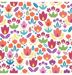 Abstract tulips seamless pattern background vector