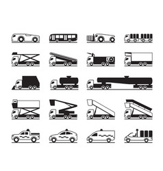 airport maintenance vehicles vector image