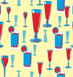 Alcohol seamless pattern vector