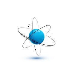 atom with core orbits and electrons isolated on vector image