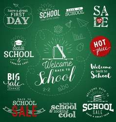 Back to School Typographical Design Elements vector image
