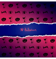 background with pattern of Halloween characters vector image