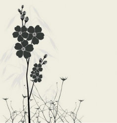 beautiful forget-me-nots vector image