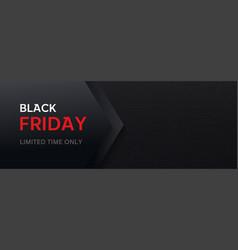 Black friday long banner template dark vector