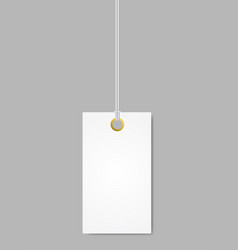 Blank label tag white isolated vector