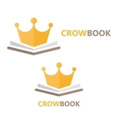 Book and crown logo concept vector