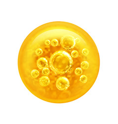 Bubbles oil inside a large oil bubble vector