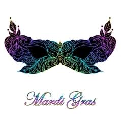 Carnival masquerade mask vector image