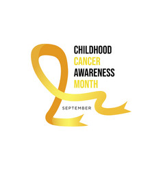 childhood cancer awareness realistic ribbon vector image