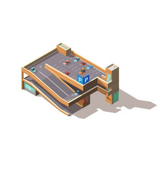 city multilevel car parking isometric vector image