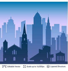 cleveland famous city scape vector image