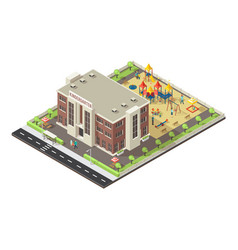 Colorful isometric children playground concept vector