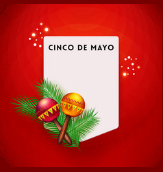 Colorful red greeting card for the 5th may vector