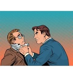 Conflict men fight quarrel businessman vector image