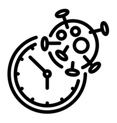 Covid19 test time icon outline style vector