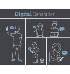 Digital generation vector image