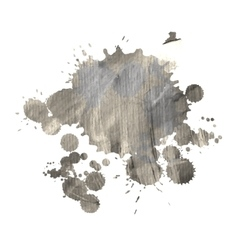 dirty watercolor spot for design vector image