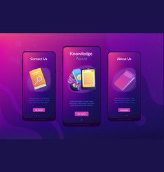 Ebook app interface template vector