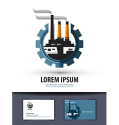 factory industry logo icon sign emblem template vector image