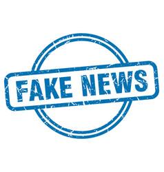 Fake news stamp fake news round vintage grunge vector