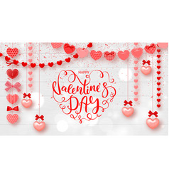 festive card for happy valentines day background vector image