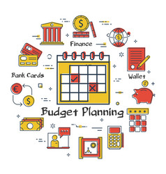 finance and banking budget planning concept vector image