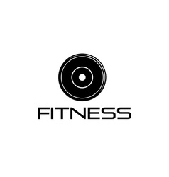 fitness weight design template vector image