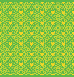 flower love abstract pattern green vector image