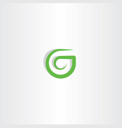 g letter logo green icon symbol design vector image