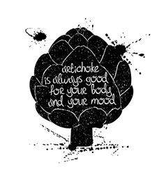 Graphic Of Isolated Artichoke Silhouette vector