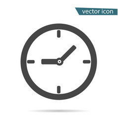 gray clock icon isolated on background modern sim vector image