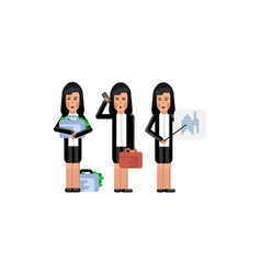 group of asian businesswoman doing presentation vector image