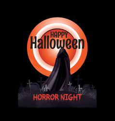 Happy halloween horror night t-shirt vector