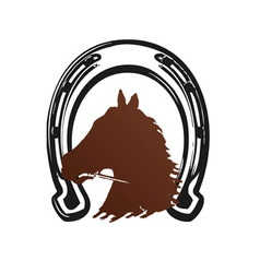 Horse horseshoe brown print vector