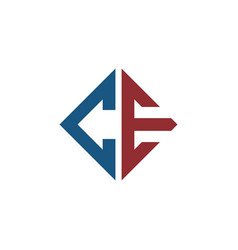 initial ce square logo template vector image