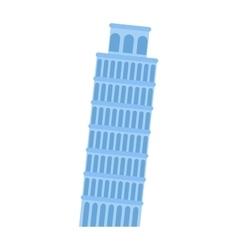 Leaning tower pisa architecture landmark vector