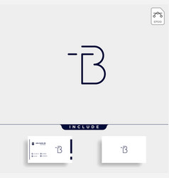 Letter tb bt t b logo design simple vector